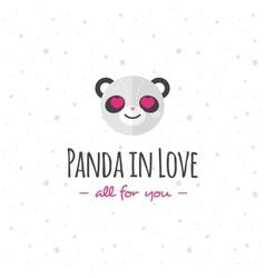 funny cartoon panda head logo Flat vector image vector image