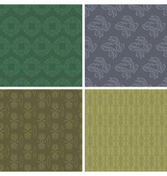 Patterns and seamless backgrounds vector image