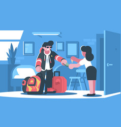 rent apartment or room vector image vector image