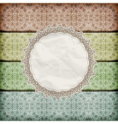 seamless floral borders abd napkin vector image vector image