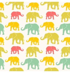 Seamless pattern with hand drawn silhouette vector image vector image