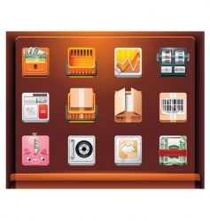 shopping and money vector image