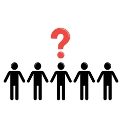 uncertainty and social group of people vector image vector image
