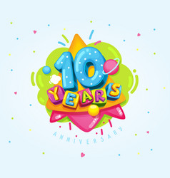 10 years vector image