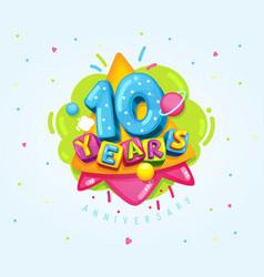 10 years vector