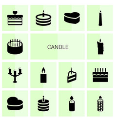 14 candle icons vector