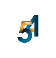 54 year anniversary template design vector