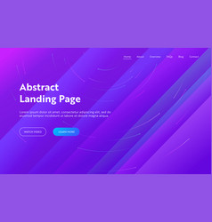 abstract background landing page template website vector image