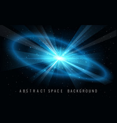 abstract background with supernova blast in space vector image