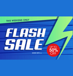 abstract flash sale banner vector image
