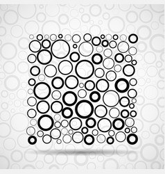Abstract square of circles vector