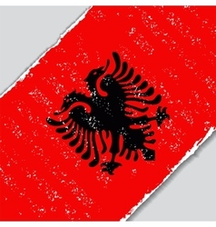 Albanian grunge flag vector image