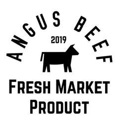 Angus beef label vector