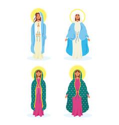 Assumption beautiful mary virgins group vector