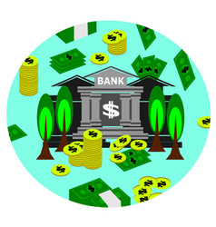 bank money and cash business vector image