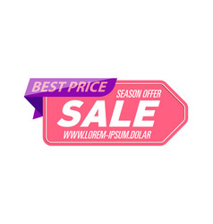 best season offer isolated sticker vector image