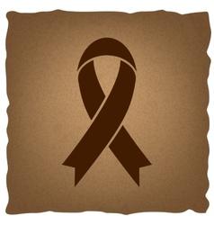 Black awareness ribbon sign vector image