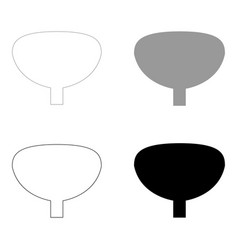 bladder the black and grey color set icon vector image