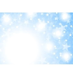Blue shiny sparkling stars abstract background vector