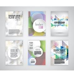 Brochure templates vector
