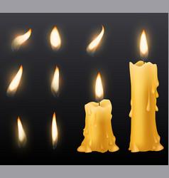 Burning candles romantic holiday wax burning vector