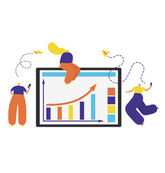 business people concept success reaching a vector image