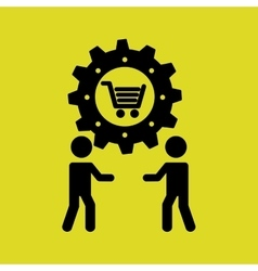 business people teamwork connection vector image