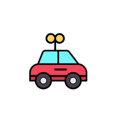 car toy flat icon sign symbol vector image