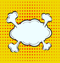 cartoon comic emotion speech bubble in pop-art vector image