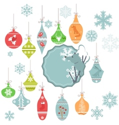 Christmas decoration isolated on white vector image