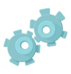Cogwheel icon cartoon style vector image