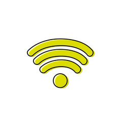 color wifi symbol of digital internet connection vector image