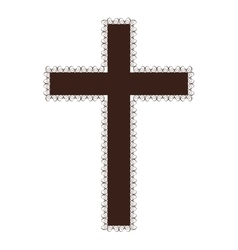 crucifix christian or catholic icon image vector image