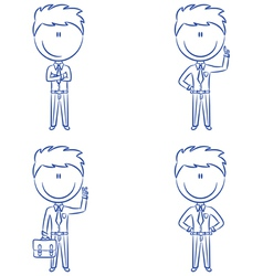Cute and funn office worker vector