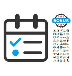 Day Tasklist Flat Icon with 2017 Year Bonus vector