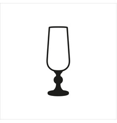 empty champagne glass icon monochrome style vector image