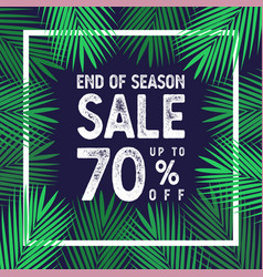 end of season sale up to 70 percent banner vector image
