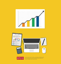 Financial analysis business statistic vector