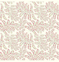 floral pattern with leaves leaf seamless texture vector image