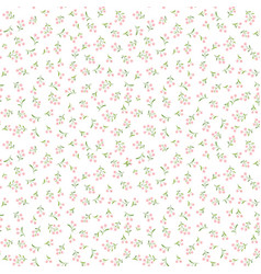 Floral tile pattern spring flower bouquets vector