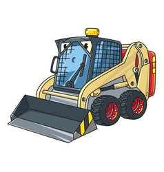 Funny small snowthrower with eyes vector