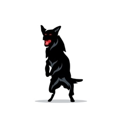 German Shepherd Cartoon vector image