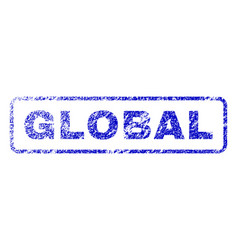 global rubber stamp vector image