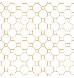 Golden abstract pattern in arabian style seamless vector