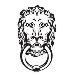 gothic lion head vector image