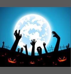 halloween backgroundfull moon on dark vector image