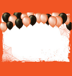 Halloween banner background with air balloons vector