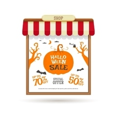 Halloween sale decoration vector image