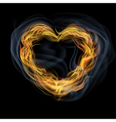 Heart of flames vector image