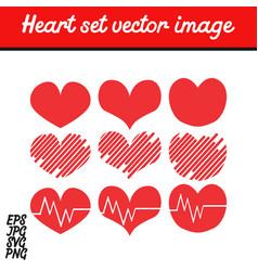 heart set image vector image